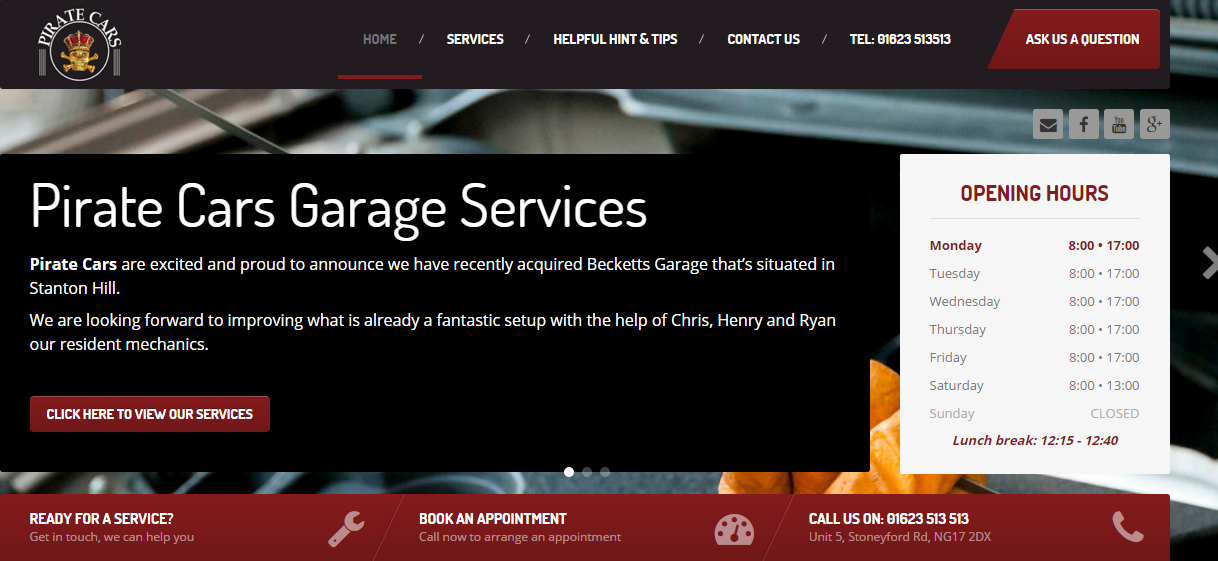 Pirate Cars Garage Service